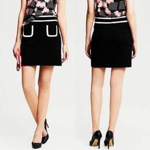 Banana Republic Black Contrast Pocket Skirt Sz 14